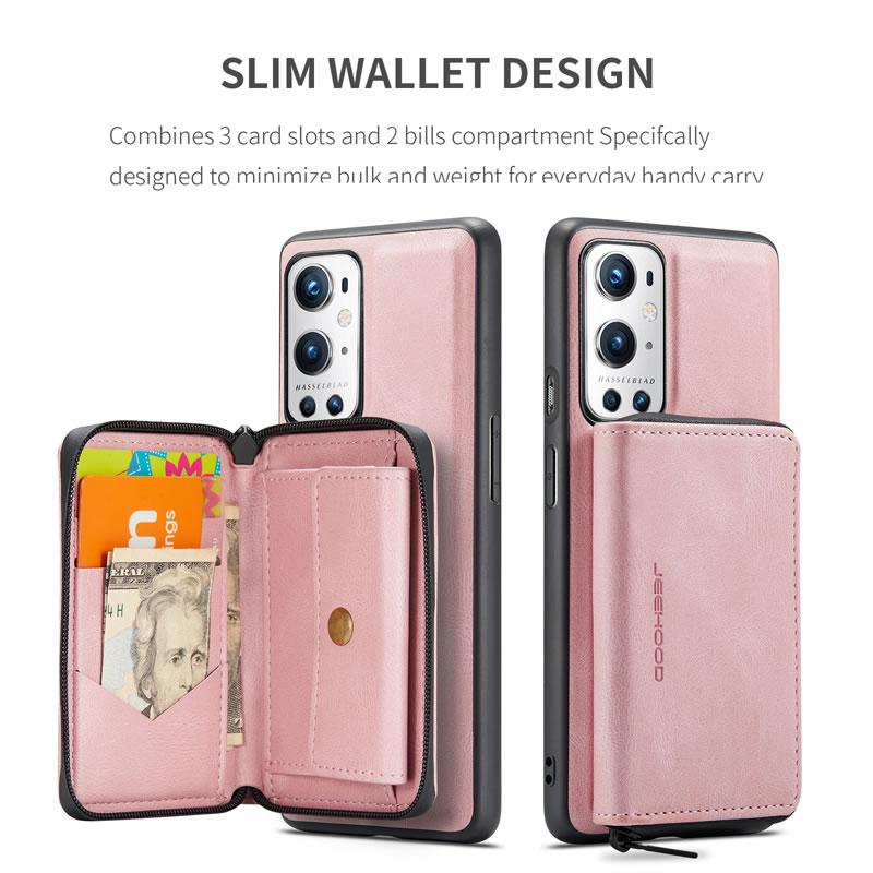 JEEHOOD OnePlus 9 Pro Leather Wallet Case