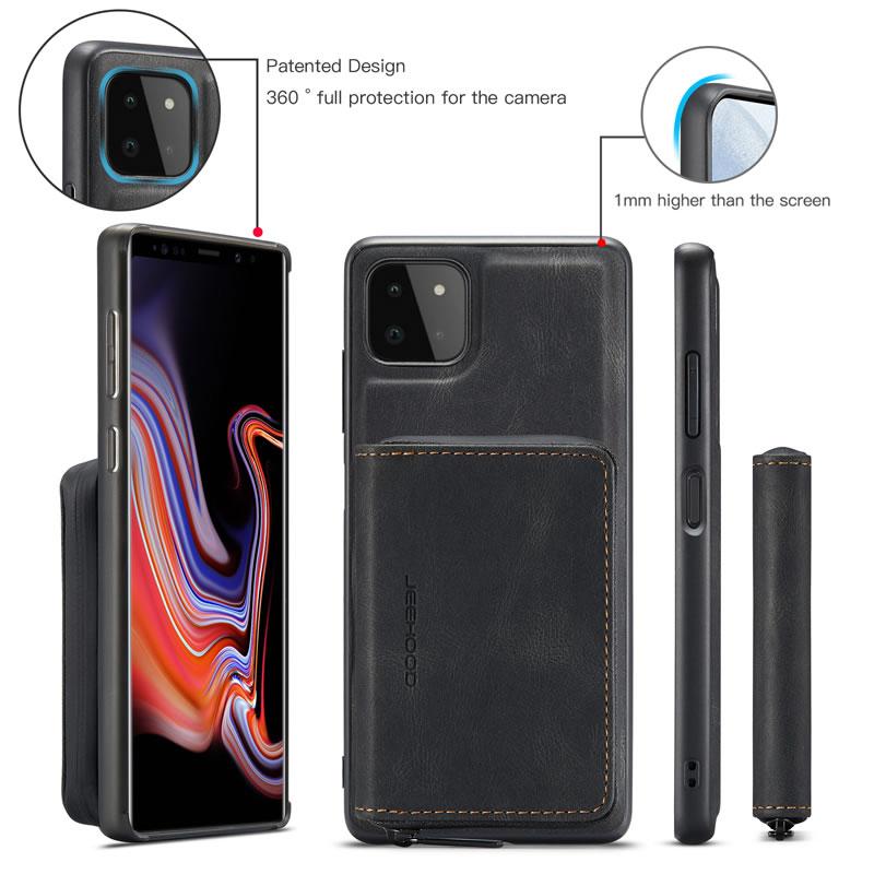 JEEHOOD Samsung Galaxy A22 5G Leather Wallet Case