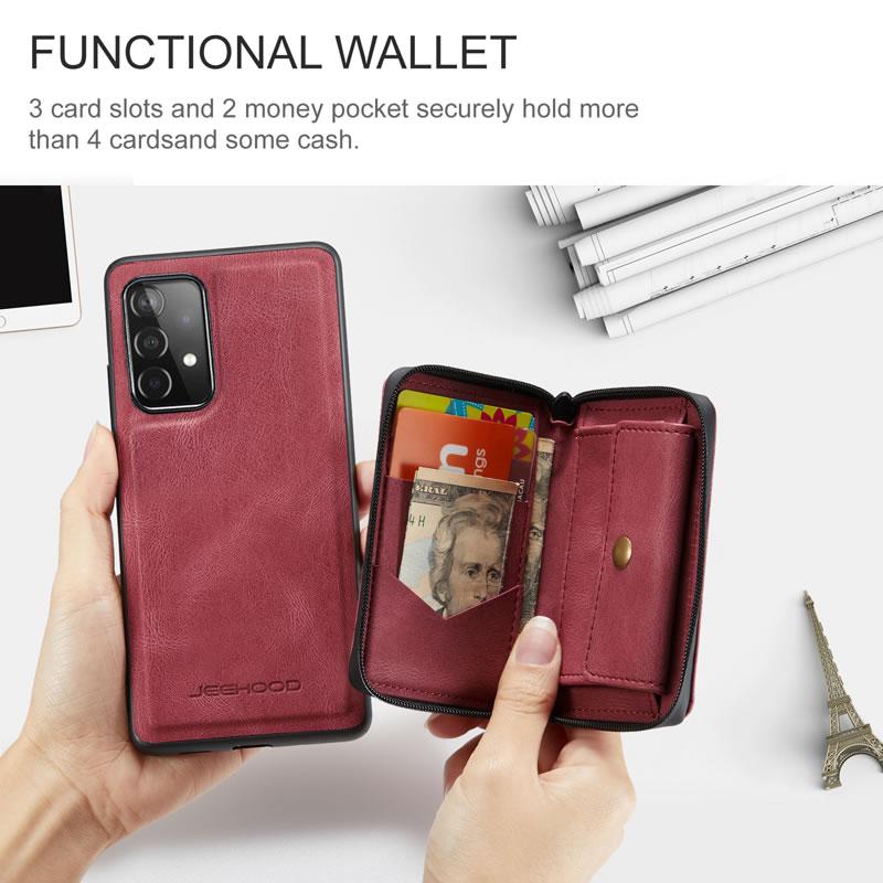 JEEHOOD Samsung Galaxy A32 5G Leather Wallet Case