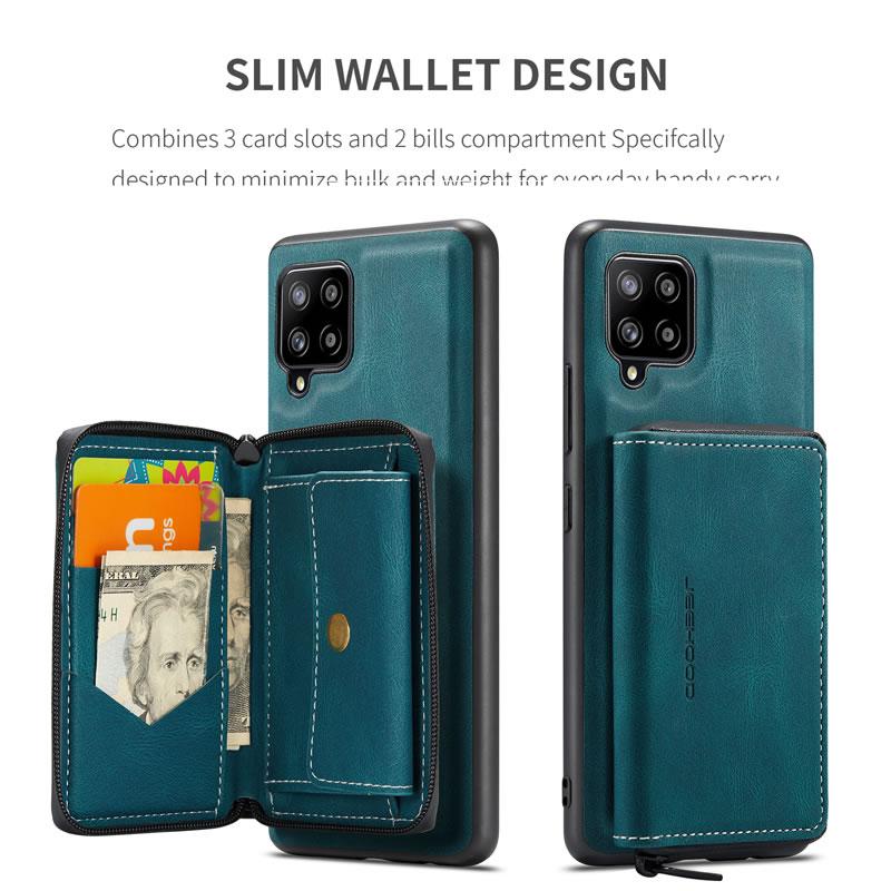 JEEHOOD Samsung Galaxy A12 5G Leather Wallet Case