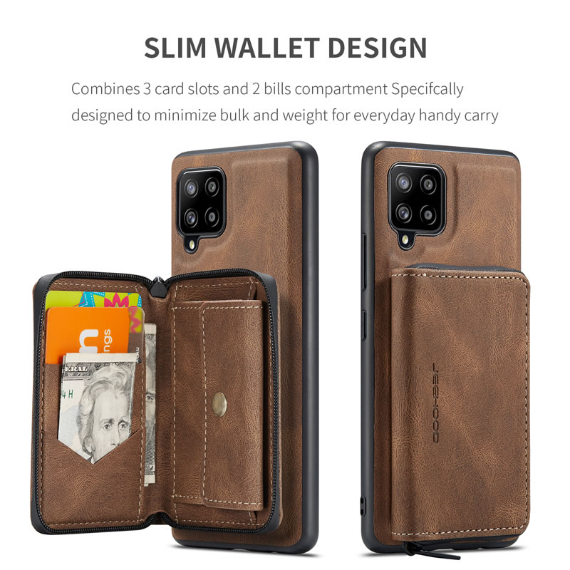 JEEHOOD Samsung Galaxy A42 5G Leather Wallet Case