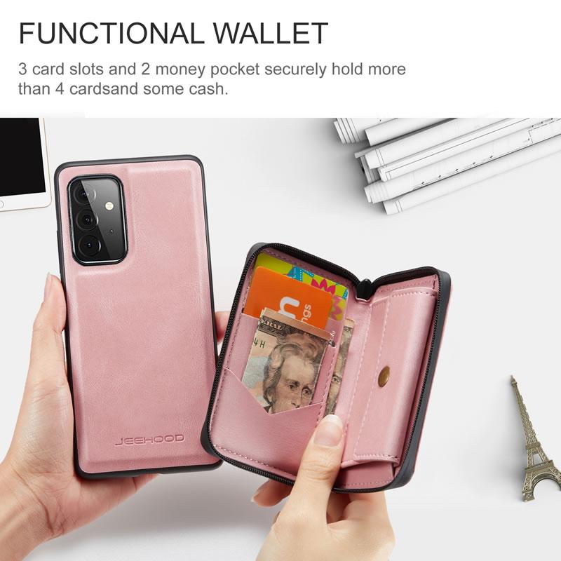 JEEHOOD Samsung Galaxy A52 5G Leather Wallet Case