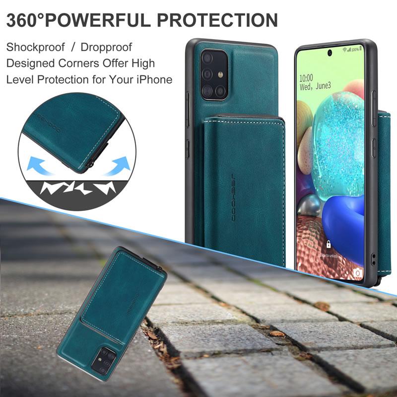 JEEHOOD Samsung Galaxy A51 5G Leather Wallet Case