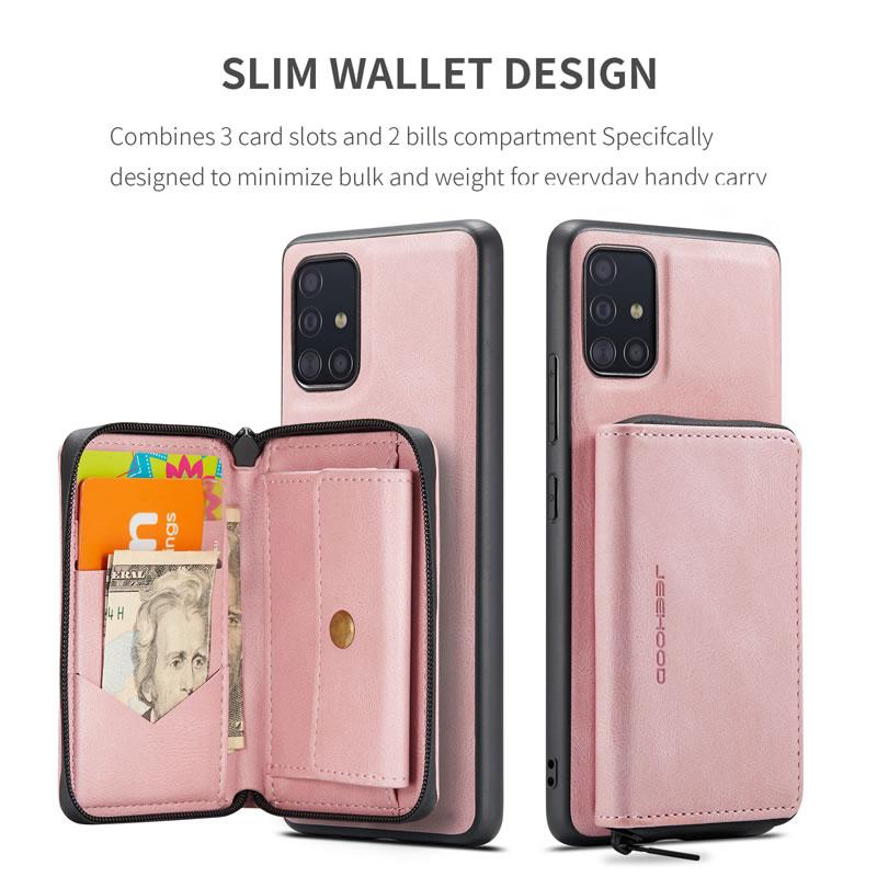 JEEHOOD Samsung Galaxy A71 5G Leather Wallet Case