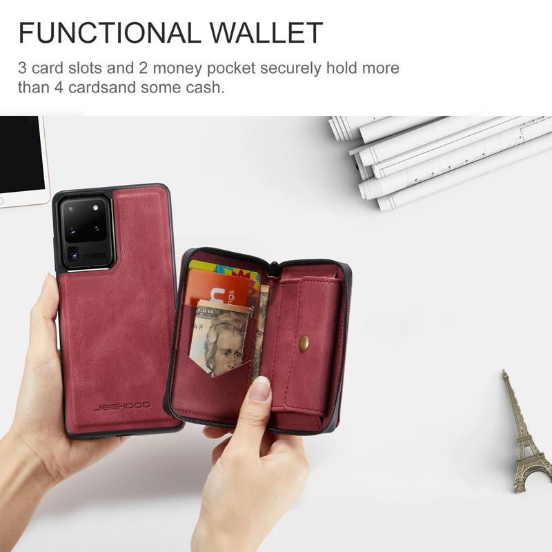 JEEHOOD Samsung Galaxy Note 20 Ultra Leather Wallet Case