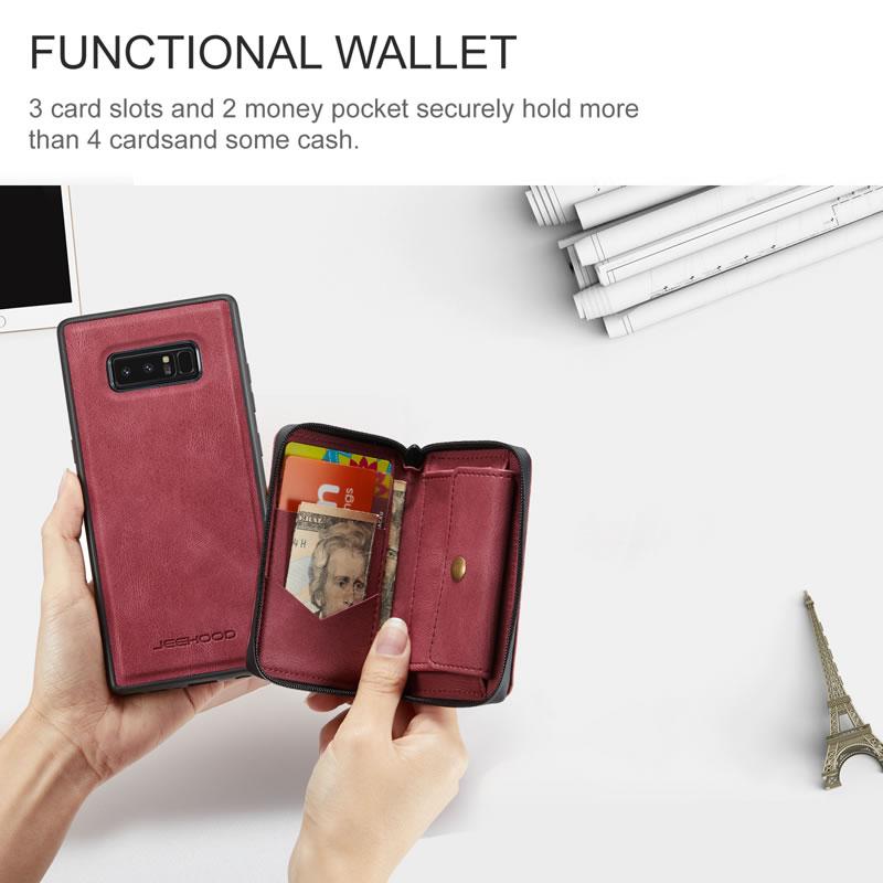 JEEHOOD Samsung Galaxy Note 8 Leather Wallet Case