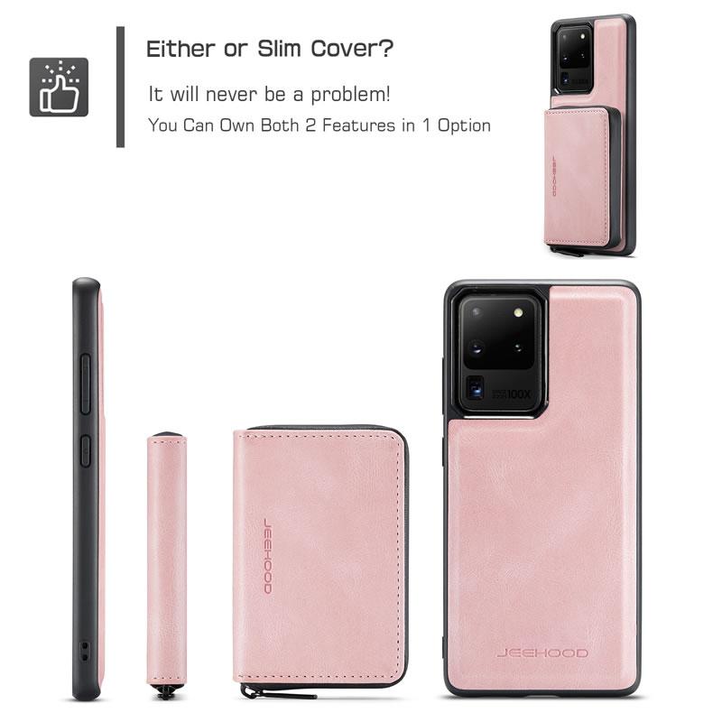 JEEHOOD Samsung Galaxy S20 Ultra Leather Wallet Case