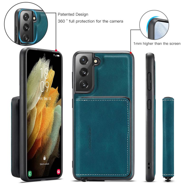 JEEHOOD Samsung Galaxy S21 Plus Leather Wallet Case