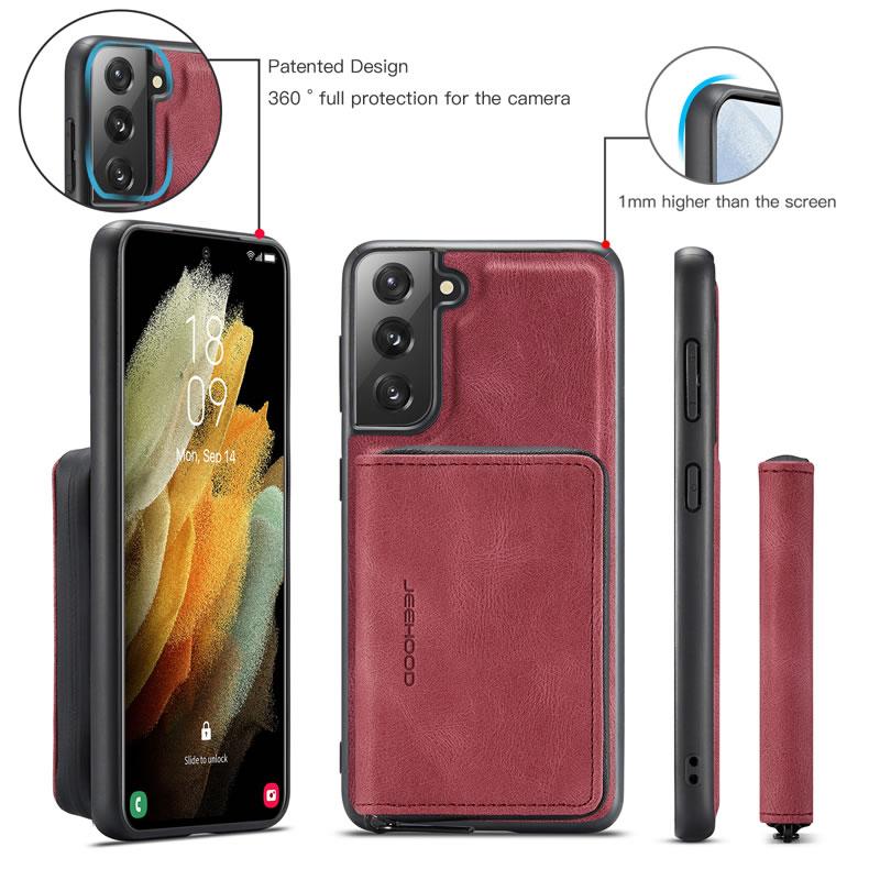 JEEHOOD Samsung Galaxy S21 FE Leather Wallet Case