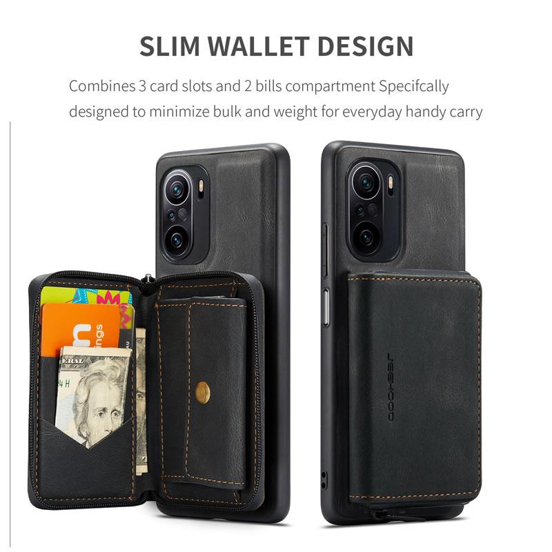 JEEHOOD Xiaomi Redmi K40 Leather Wallet Case