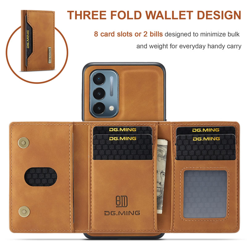 DG.MING OnePlus Nord N200 Leather Wallet Case